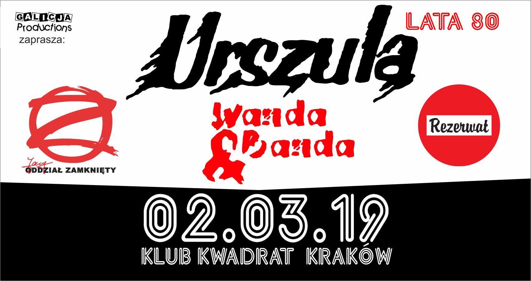 Urszula, Wanda i Banda, Jary Oddział Zamknięty, Rezerwat | Kraków