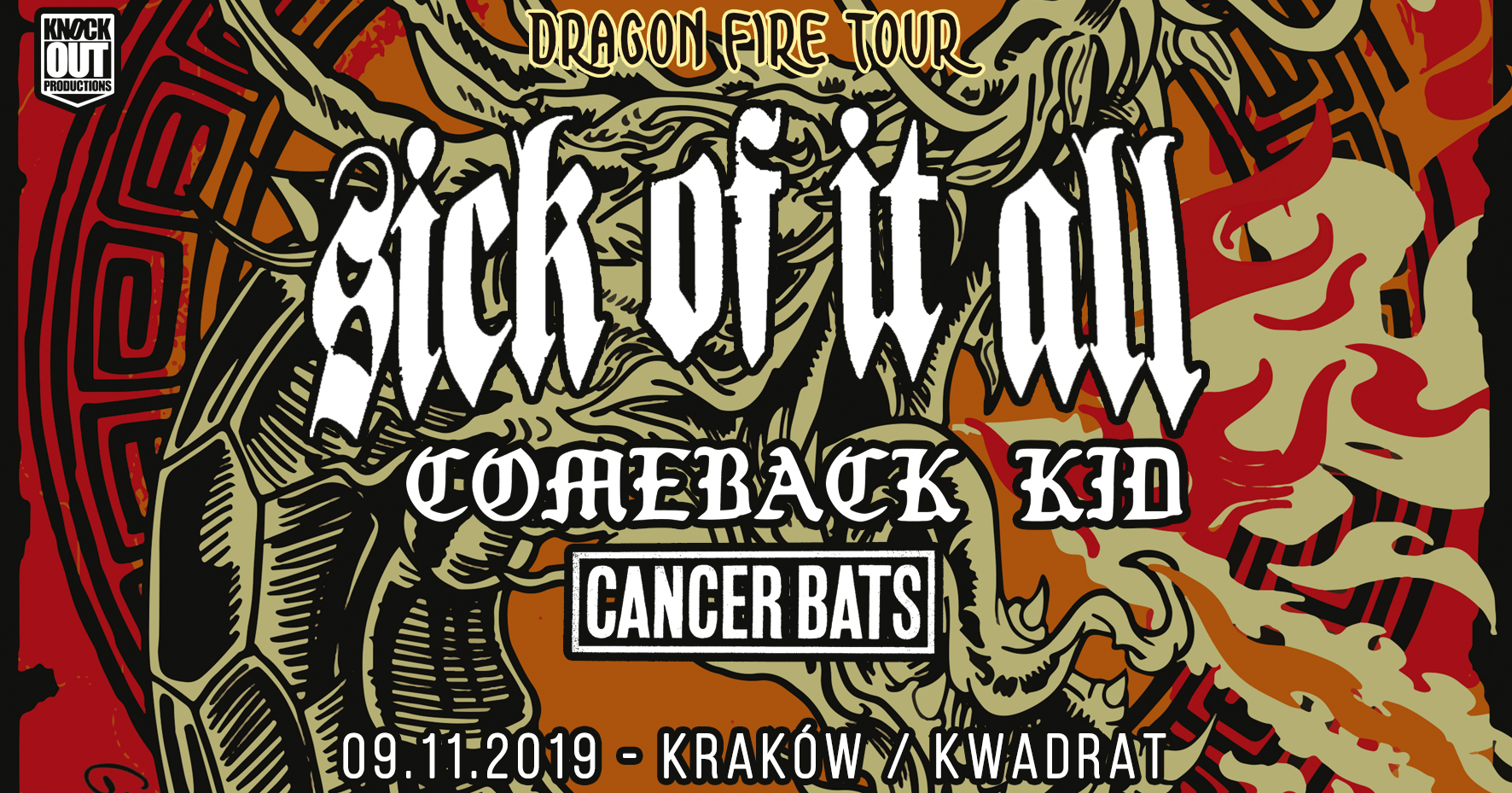 SICK OF IT ALL + Comeback Kid + Cancer Bats