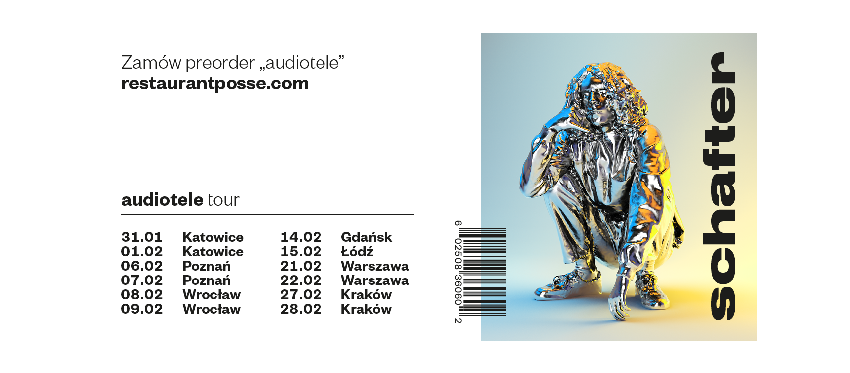 """Schafter - Nowy album """"Audiotele"""" - 2 Termin SOLD OUT"""